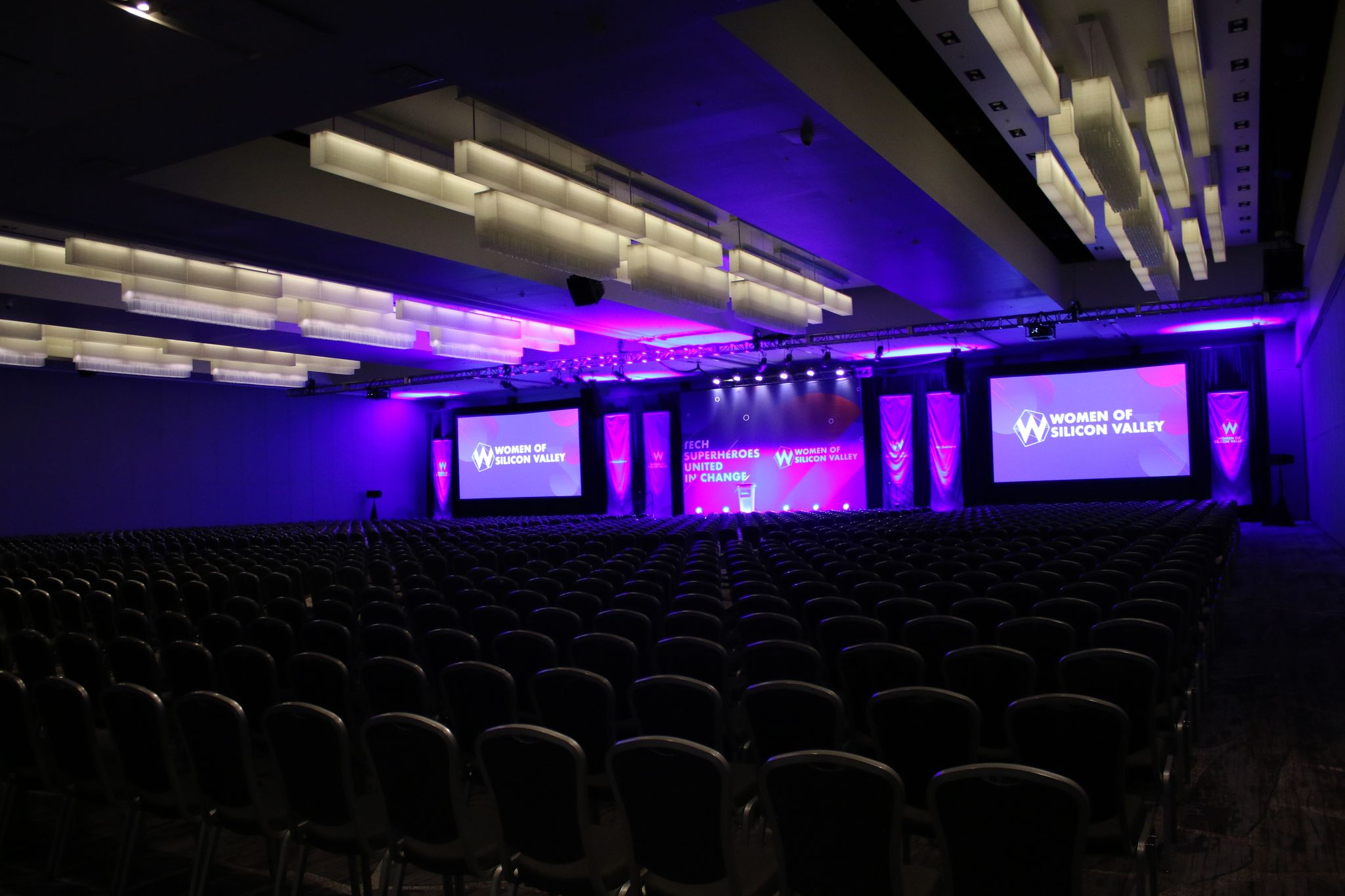 photo of women of silicon valley 2019 conference stage
